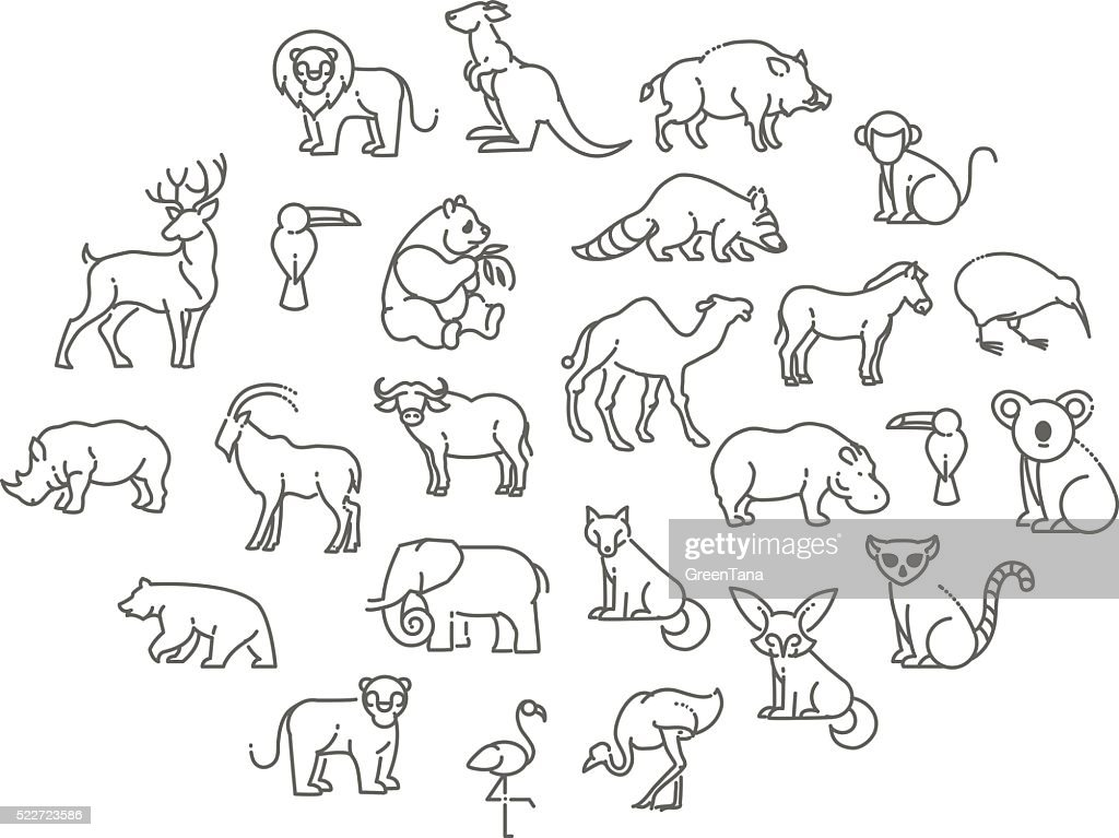 animal icons. Zoo Animals