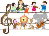 animal kids music