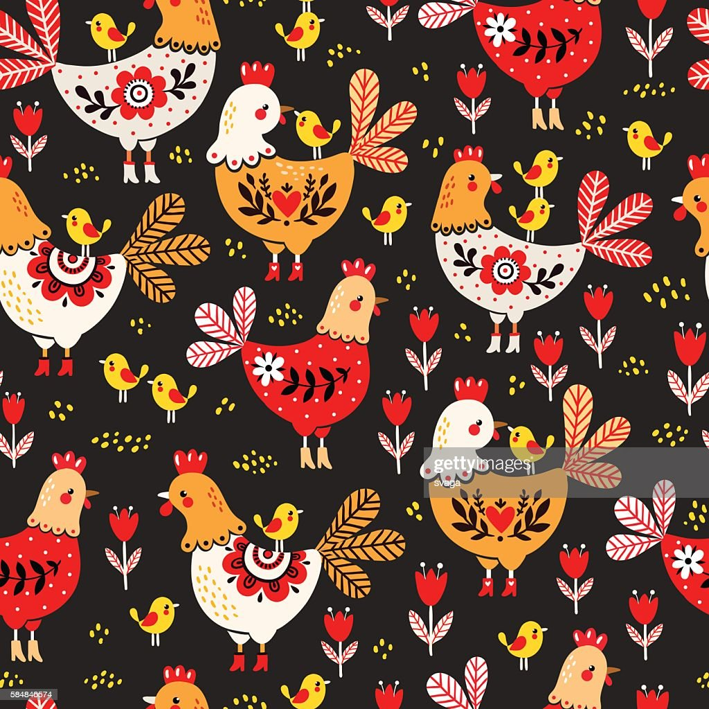 Animal pattern. Domestic bird.