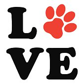 Animal Paw Print Icon - VECTOR