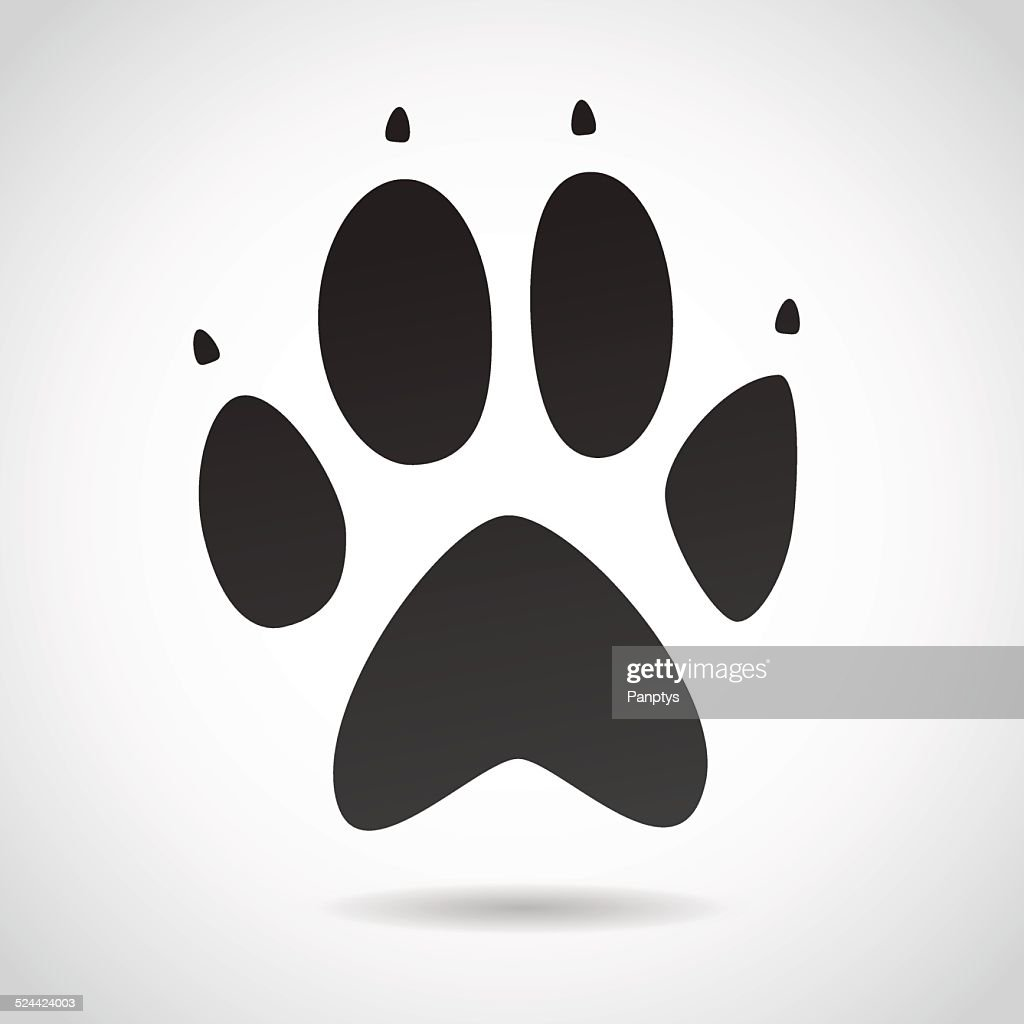 Animal print VECTOR icon.
