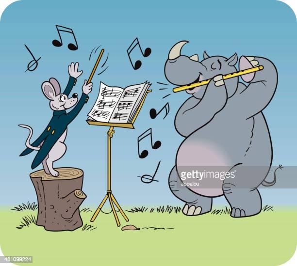 animal symphony - animal body part stock illustrations, clip art, cartoons, & icons