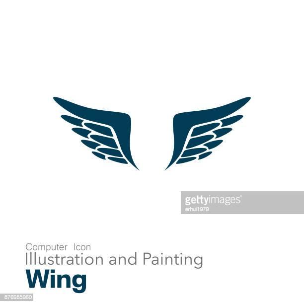 60点の翼を広げるのイラスト素材クリップアート素材マンガ素材