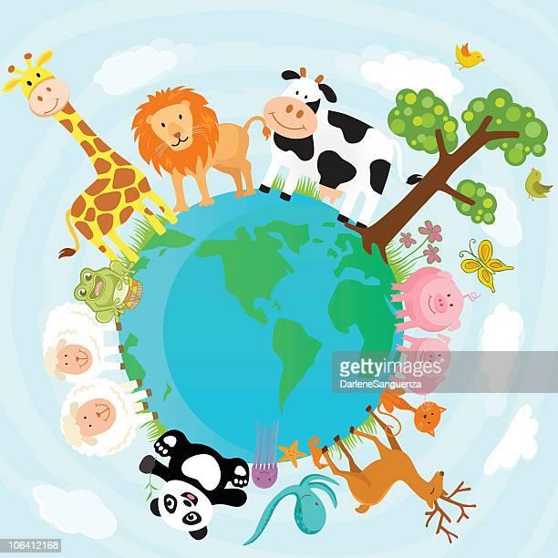 ilustrações, clipart, desenhos animados e ícones de mundo animal - animais em extinção