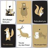 animallovecardsblackbeige