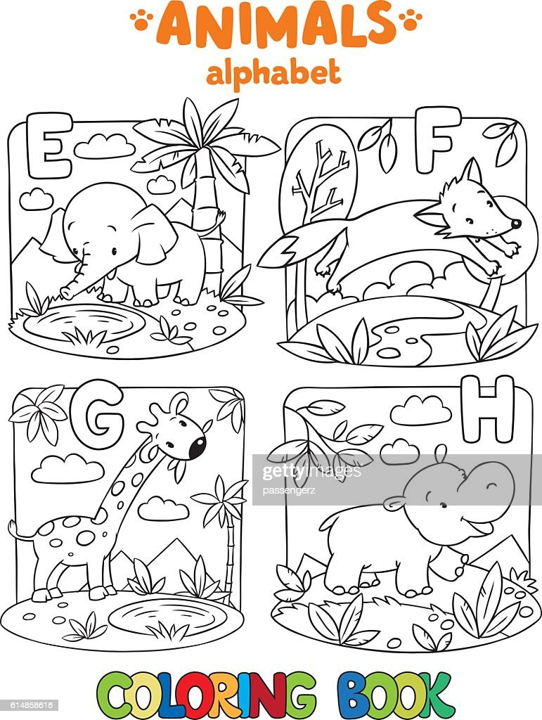 Animals Alphabet Or Abc Coloring Book Vector Art | Getty Images