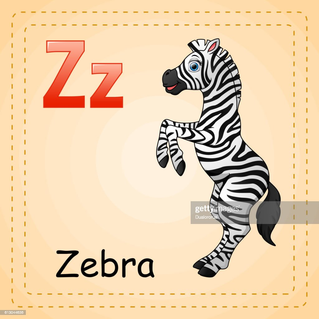 Animals alphabet: Z is for Zebra