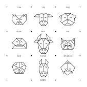 Animals farm origami 8