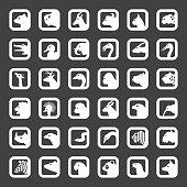 Animals icons set
