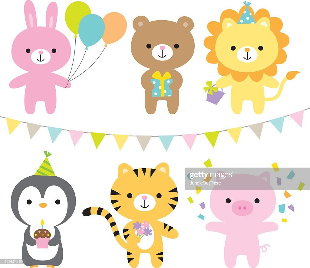 Animals in a party theme