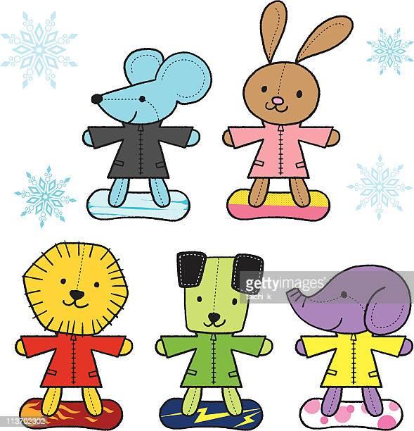 Animal's snowboarders