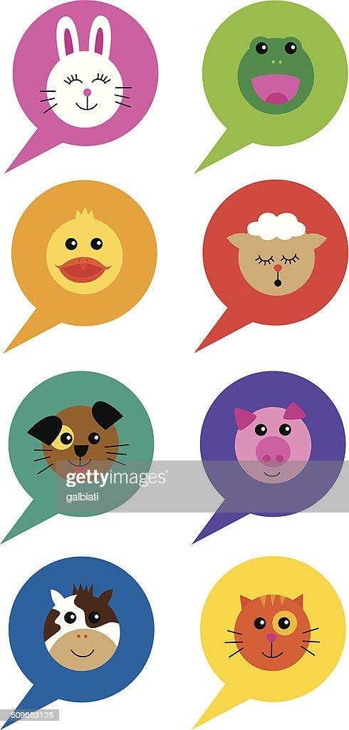 Animals Speech Bubbles High-Res Vector Graphic - Getty Images