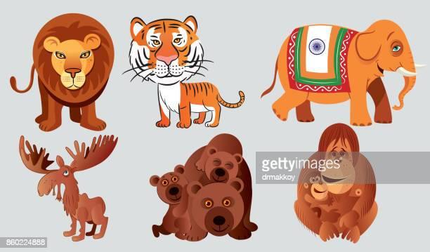 animals - bali stock illustrations