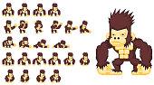 Animated Giant Ape Character
