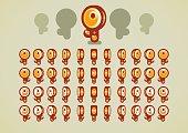 Animated golden keys