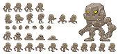 Animated Golem Character