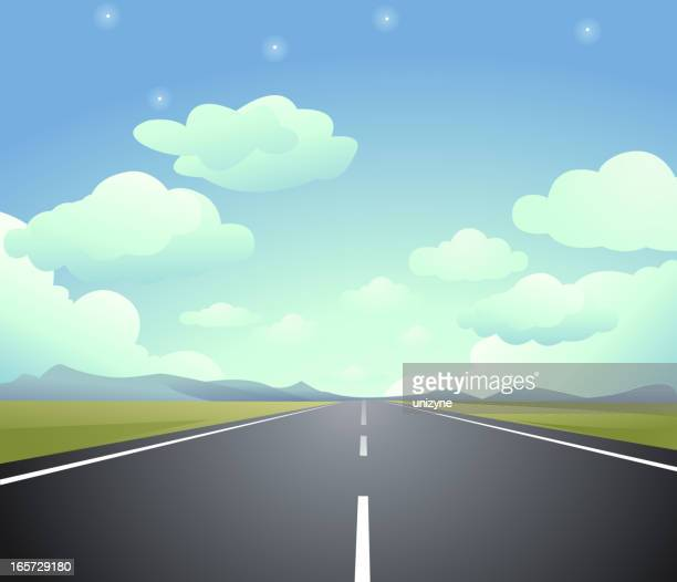 animated image of a highway that ends in eternity - road stock illustrations