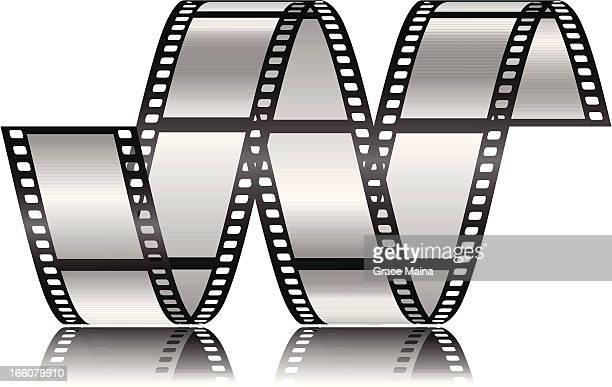 ilustraciones, imágenes clip art, dibujos animados e iconos de stock de animación de película con un fondo blanco. - rollo de cine