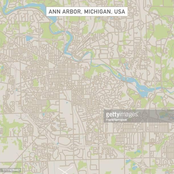 アン アーバー ミシガン us シティ ストリートマップ - アナーバー点のイラスト素材/クリップアート素材/マンガ素材/アイコン素材