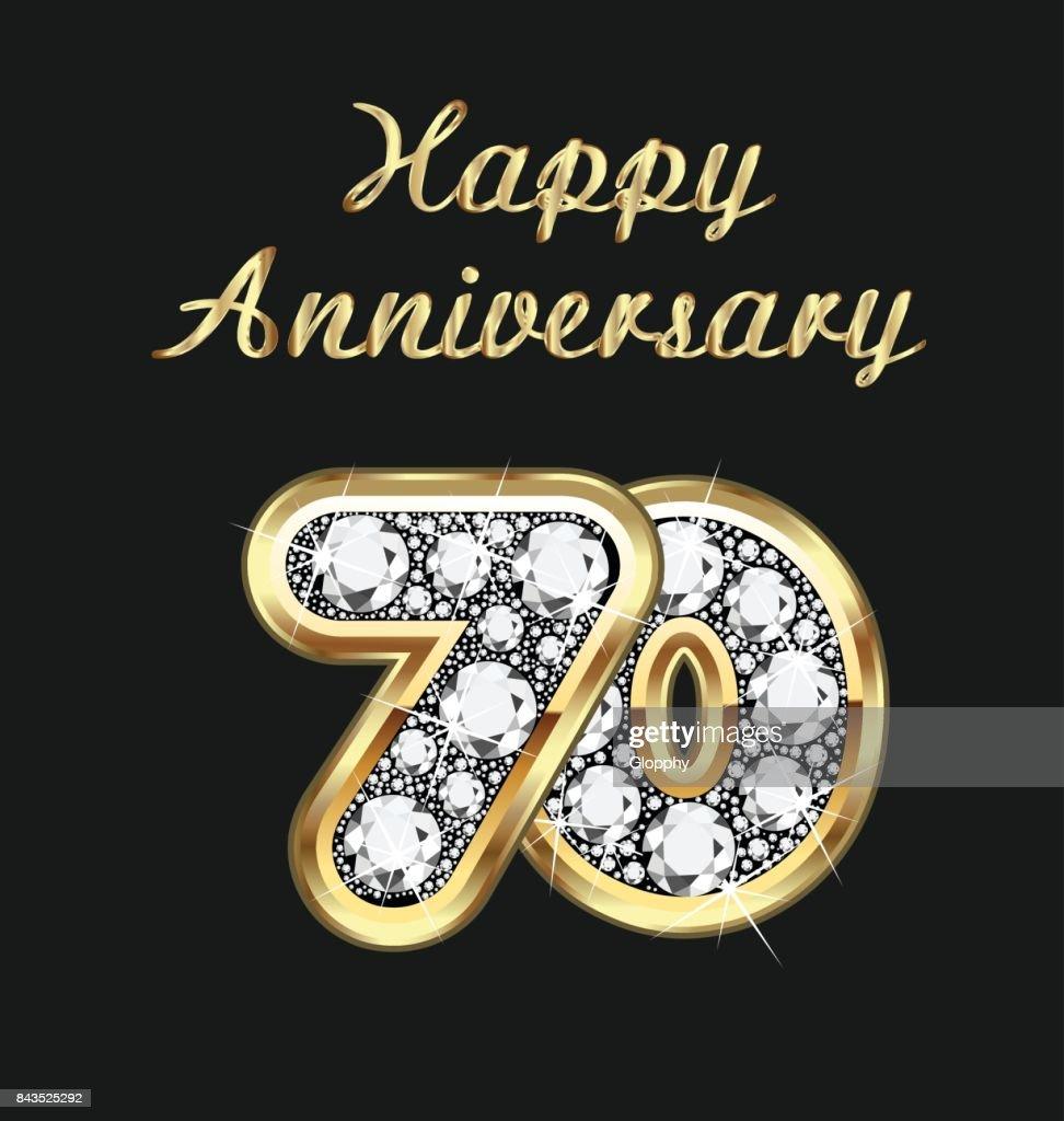 Anniversary 20th years birthday in gold and diamonds vector