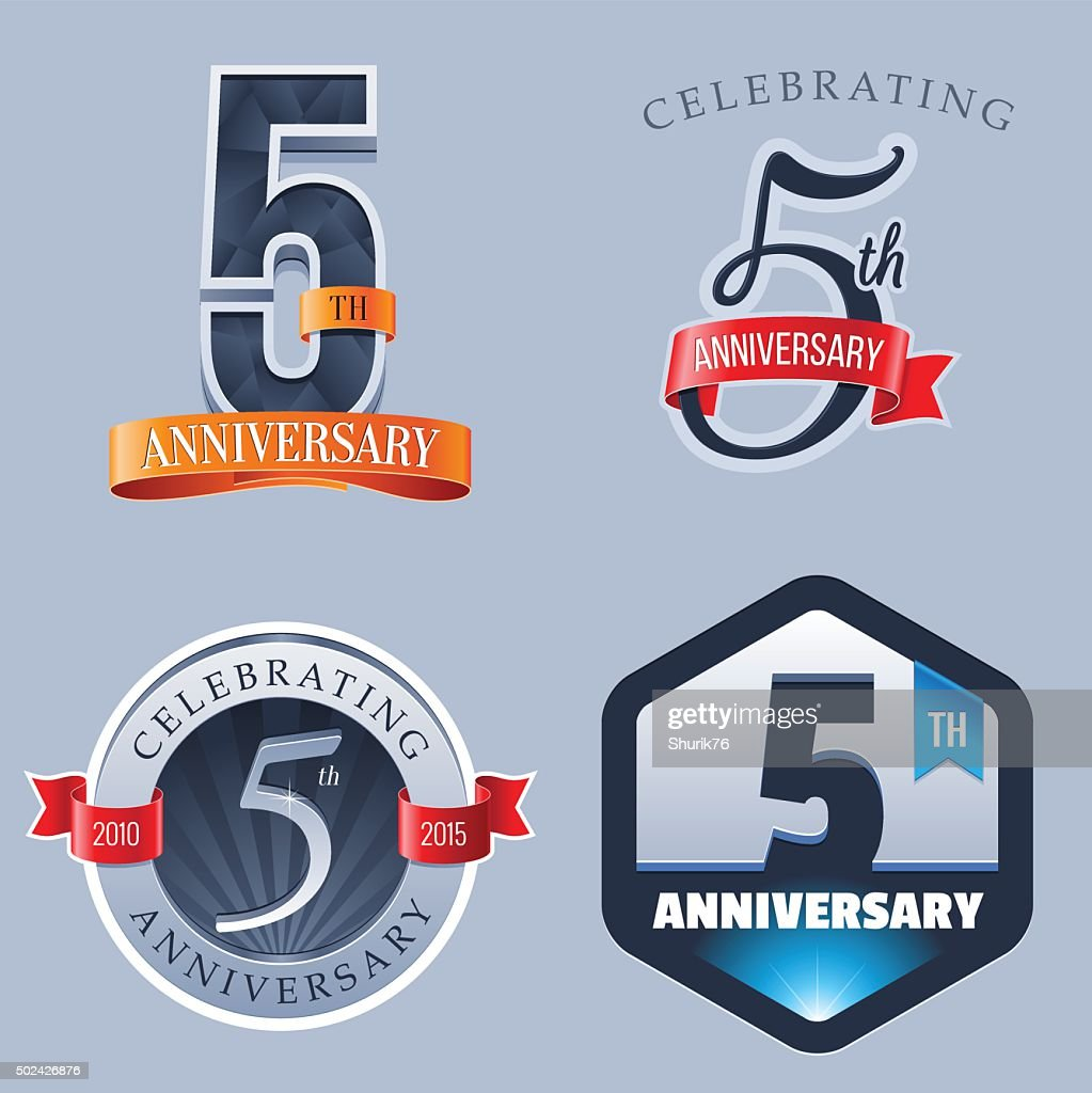 Anniversary 5 Years Vector Art Getty Images