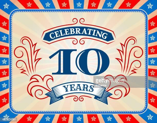 Aniversario estadounidense exclusivo tarjeta de fondo para el 4 de julio