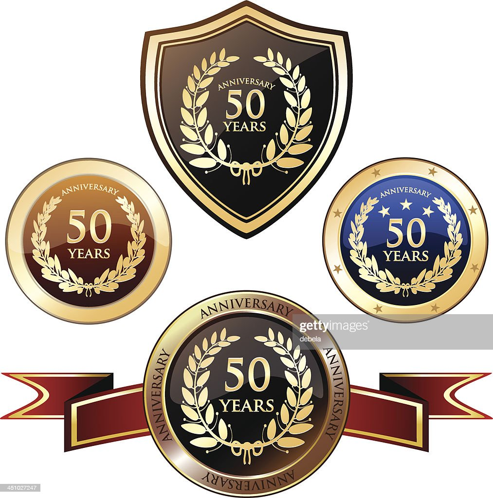 Anniversary Badge Heraldry - Fifty Years