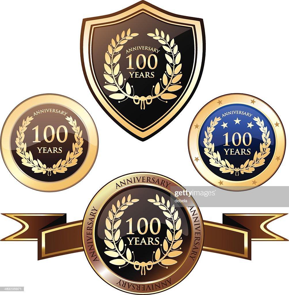 Anniversary Badges - Hundred Years