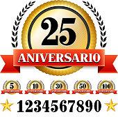 Anniversary Badges in Spanish