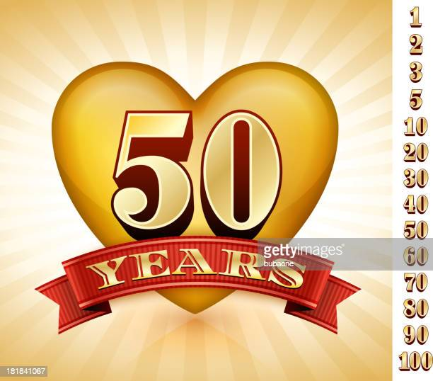 anniversary badges red and gold collection background - 45 49 years stock illustrations, clip art, cartoons, & icons