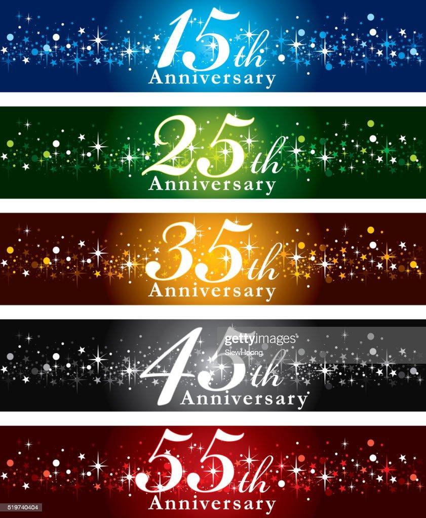 Anniversary Banners : stock illustration