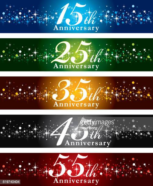 anniversary banners - anniversary stock illustrations, clip art, cartoons, & icons