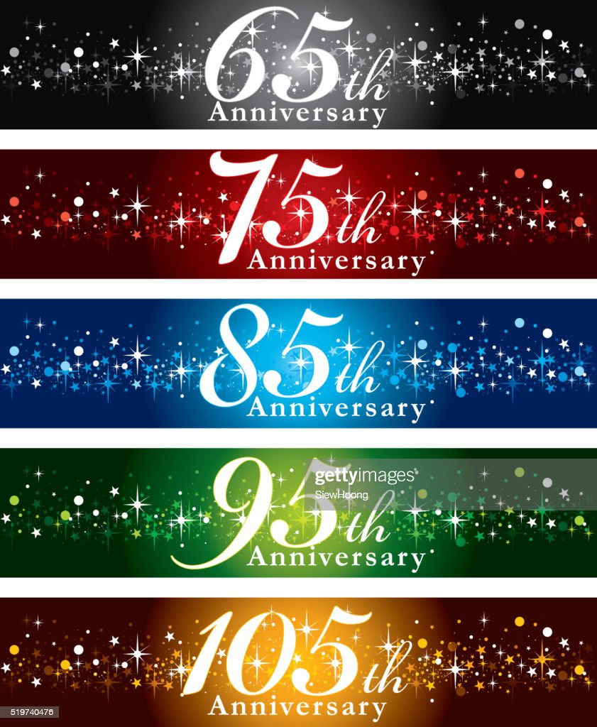 Anniversary Banners : stock illustration