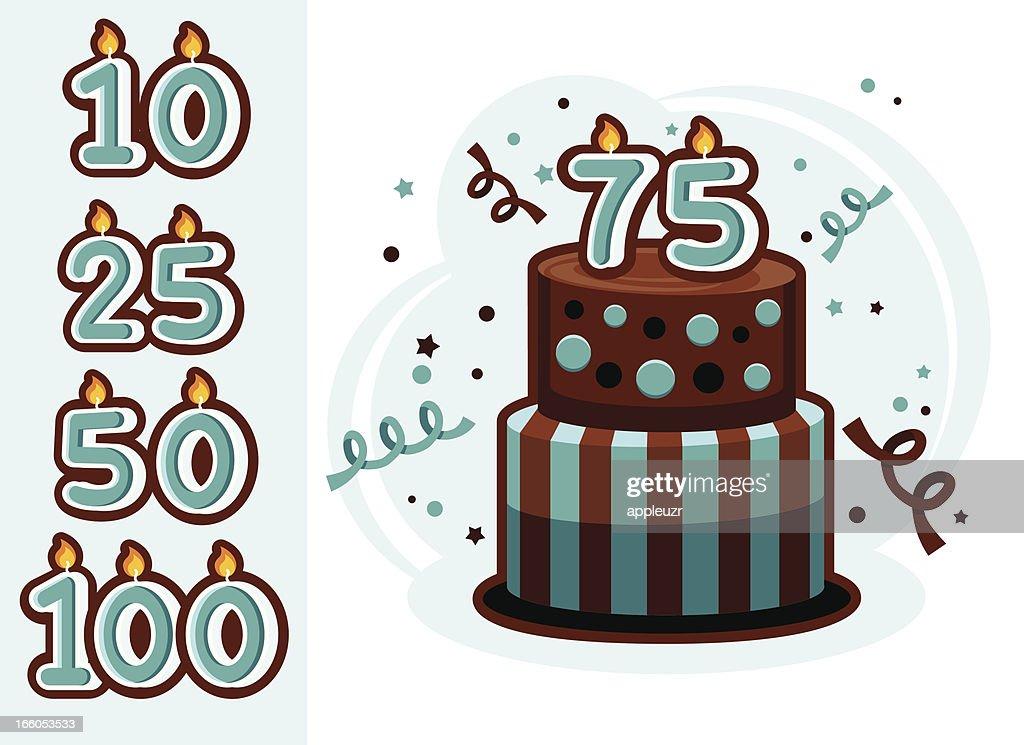 Anniversary Cake : stock illustration