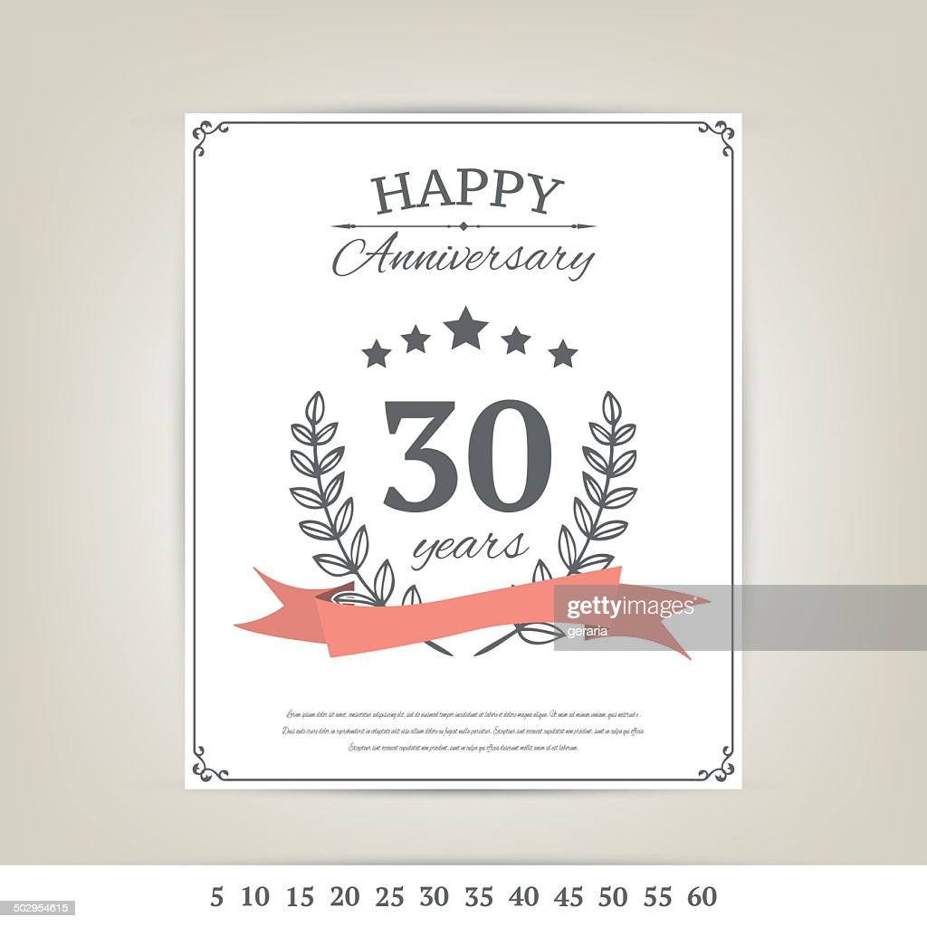 Anniversary card template