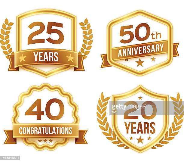 Anniversary Celebration Badges and Crests