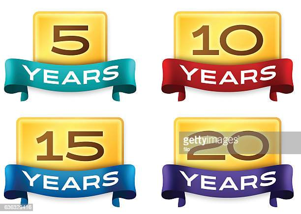 Anniversary Celebration Badges