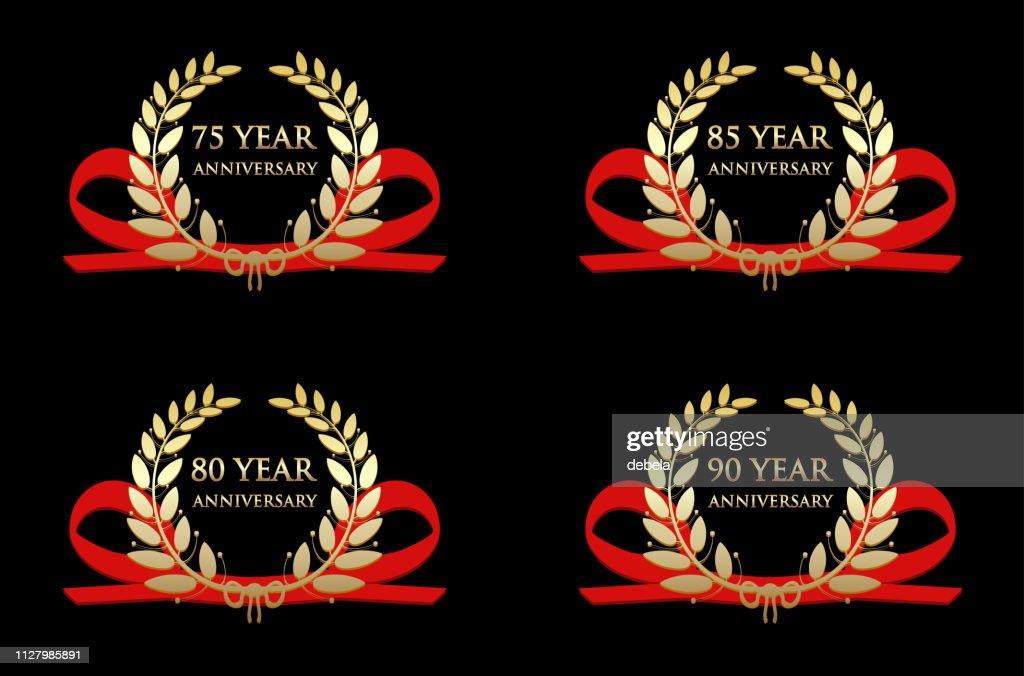 Anniversary Celebration Gold Awards : stock illustration
