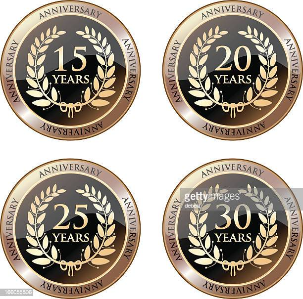 Anniversary Celebration Medals In Gold