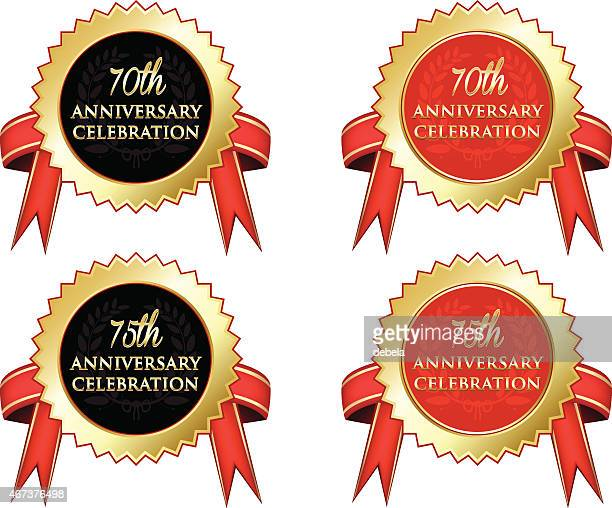 anniversary celebration - 75th anniversary stock illustrations, clip art, cartoons, & icons