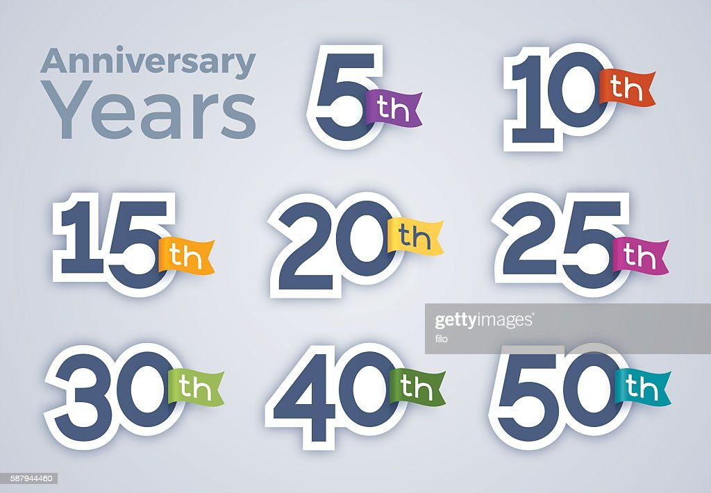 Anniversary Celebration Year Numbers
