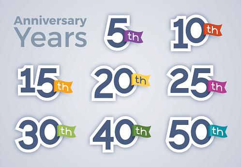 Anniversary Celebration Year Numbers - gettyimageskorea