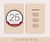 Anniversary decorated invitation / greeting card template.