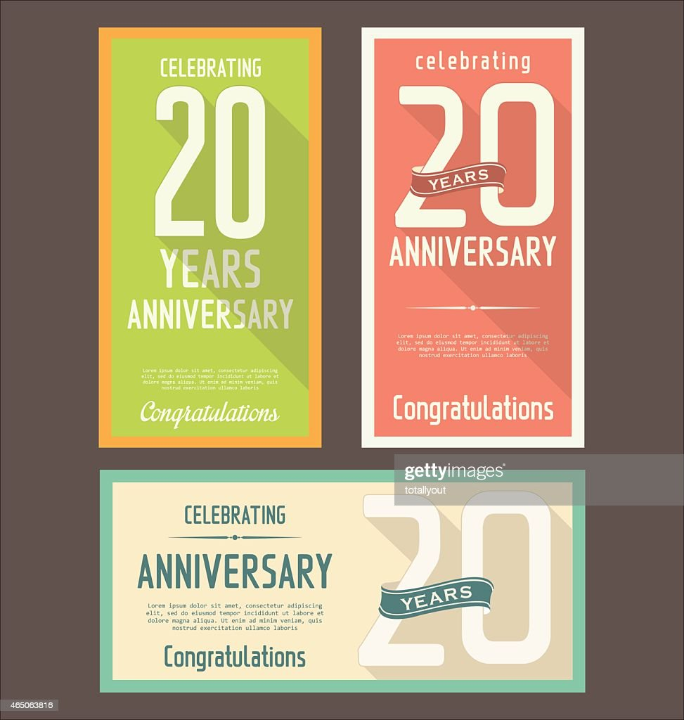 Anniversary design, 20 years