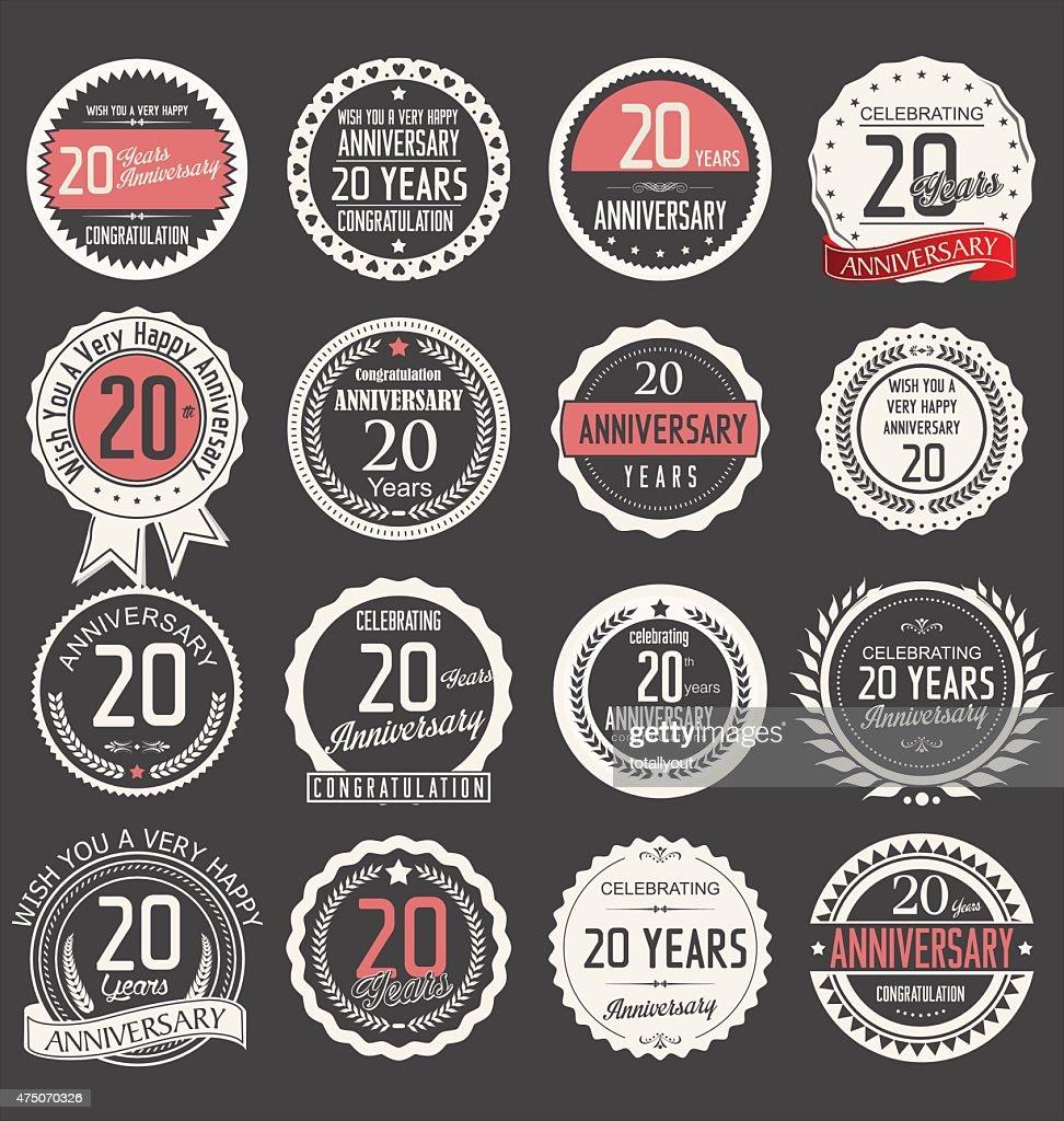 Anniversary design, 20 years