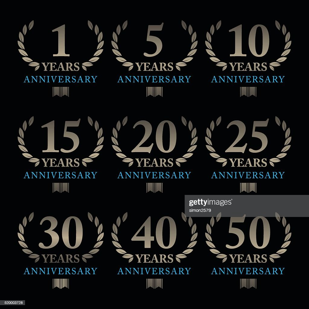 Anniversary Emblem Set : stock illustration