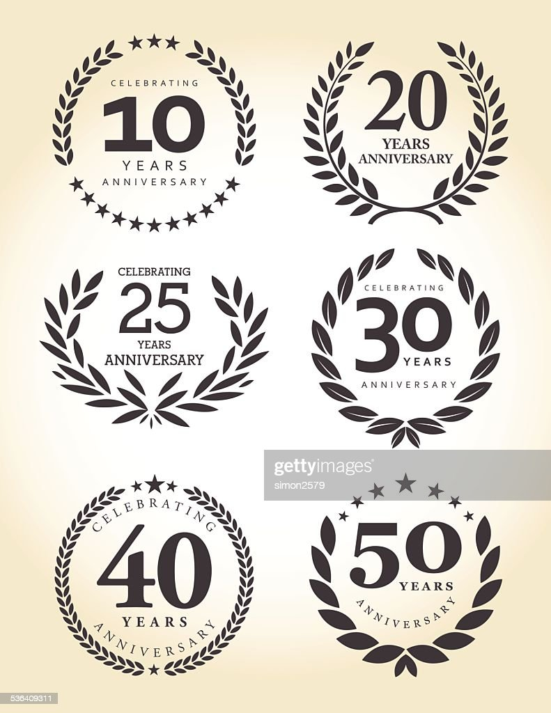 Anniversary emblem set : stock illustration