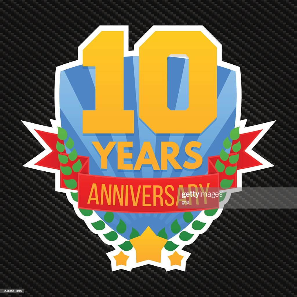 Anniversary emblem template