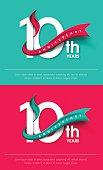 Anniversary emblems template design