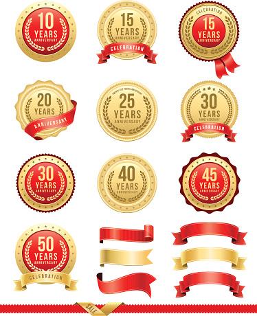 Anniversary Gold Badge Set - gettyimageskorea